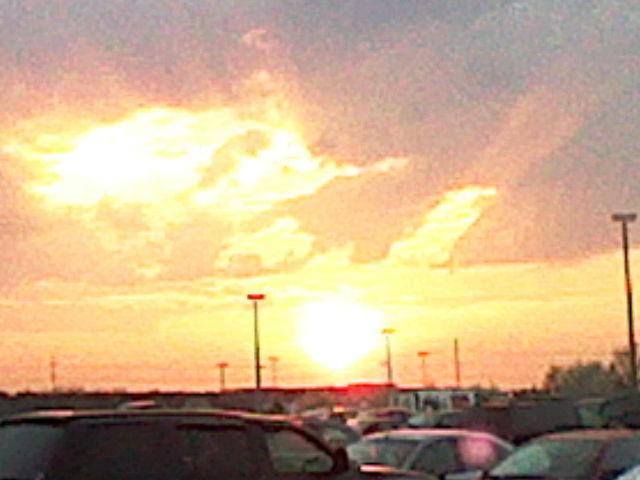 A sunset!